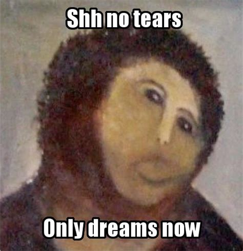 Jesus Painting Restoration Meme - image 382535 botched ecce homo painting know your meme