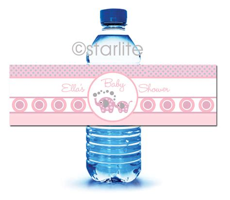 free template for baby shower water bottle labels baby