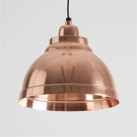 Copper Pendant Light Copper Plated Aluminium Pendant Lights By Horsfall Wright Notonthehighstreet