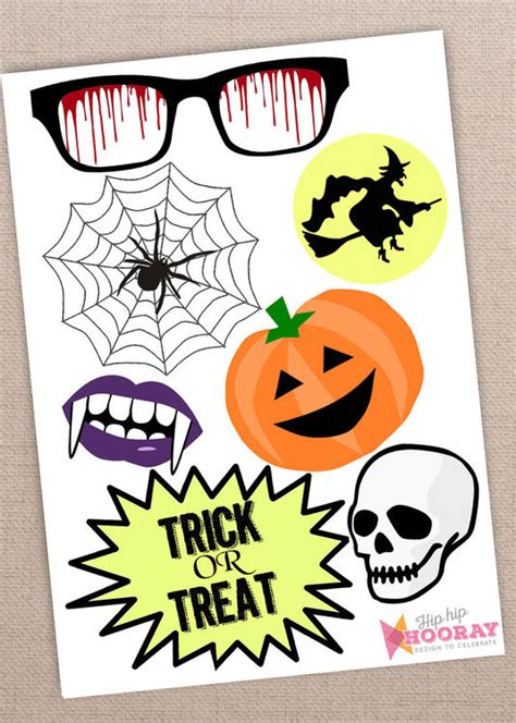 halloween photo booth props printable pdf printable diy halloween photo booth props only 163 3 00