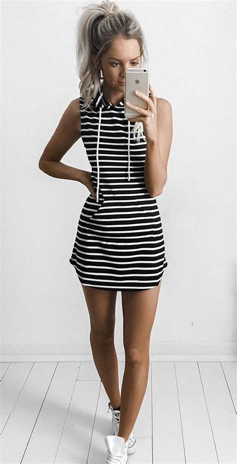Striped Hoodie Dress summer dresses stripe hoodie dress boutique page