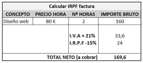 conceptos exentos irpf 2016 el iva y el irpf en una factura de aut 243 nomo