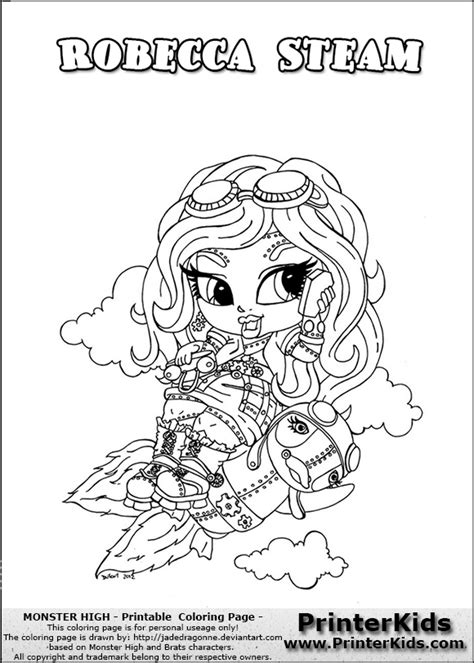 monster high coloring pages printerkids monster highrobeca free coloring pages