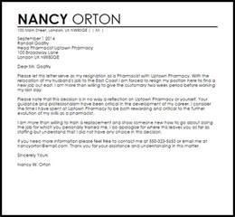 Resignation Letter Sle Pharmacist Pharmacist Resignation Letter Resignation Letters Livecareer