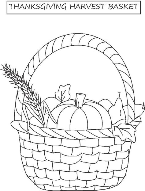 thanksgiving basket coloring page best photos of fall basket template apple basket