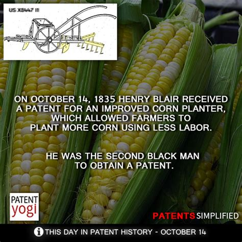 Henry Blair Corn Planter by On October 14 1835 Henry Blair Received A Patent For An