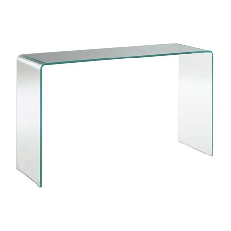 clear glass console table clear glass console table hanaley interiors