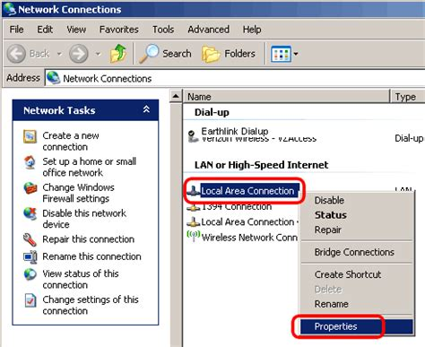how to reset an ip address for time warner internet change ip address in windows xp