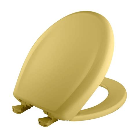 bemis toilet bemis closed front toilet seat in yellow 200slowt