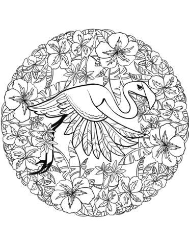 mandala coloring book purpose flamingo mandala coloring page free printable coloring pages