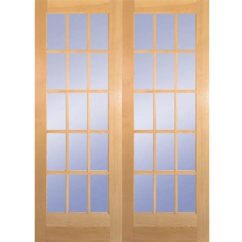 andersen 60x80 sliding door builder s choice 60 in x 80 in 15 lite clear wood pine