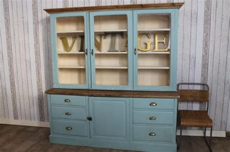 Cupboard Dresser by Edwardian Dresser Housekeepers Cupboard Painted Large Antique