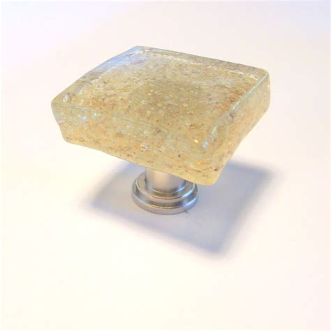Handmade Cabinet Knobs - handmade fused glass cabinet knob drawer pull sand 18