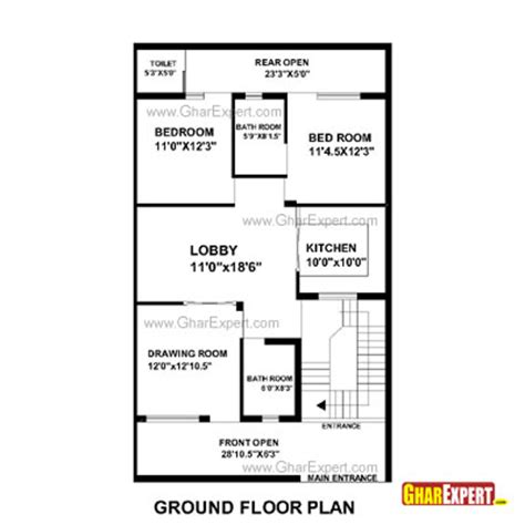 House Design 15 Feet By 60 Feet by House Plan For 30 Feet By 51 Feet Plot Plot Size 170