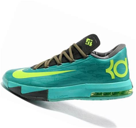 nike kd vi 6 black green kevin durant basketball shoes