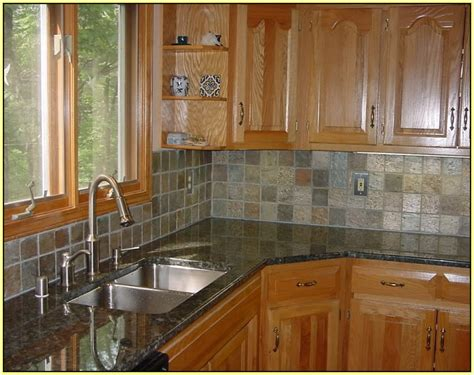 slate kitchen backsplash slate subway pattern mosaic tile kitchen backsplash