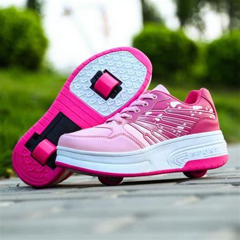 nouvel enfant heelys chaussures 224 roulettes avec roues chaussures pour enfants gar 231 ons