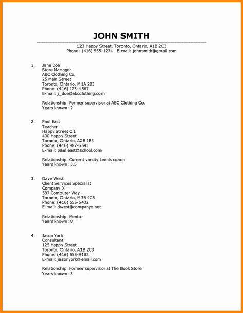 8 how to list a reference resume type