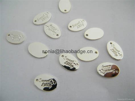 tag jewelry metal tag brass pendant silver tag jewelry tag oval embossed tag lh0912 lihao