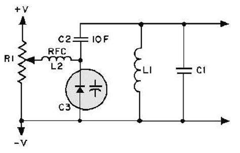 varactor biasing circuit silicon controlled rectifier scr