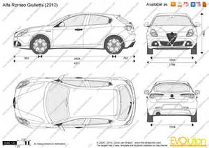 Alfa Romeo Giulietta Length The Blueprints Vector Drawing Alfa Romeo Giulietta