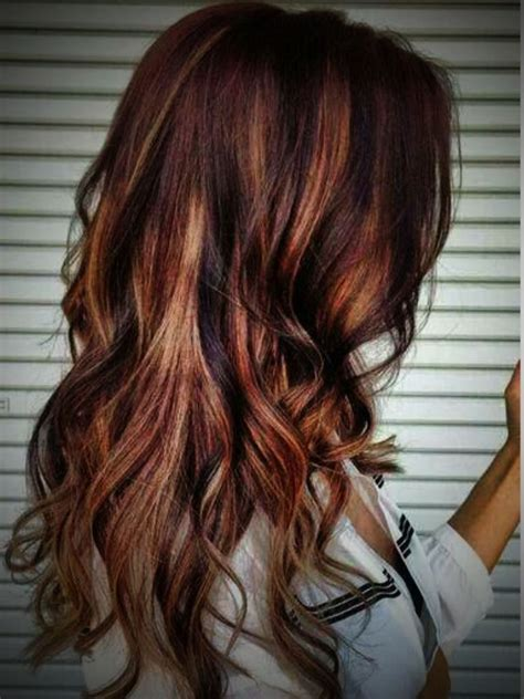 hairstyles blonde and red highlights blonde and red highlights auburn hair with blonde