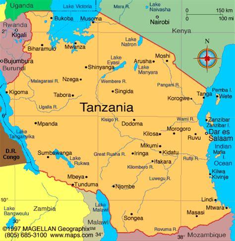 map ya africa atlas tanzania