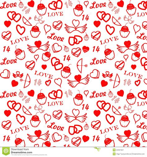 valentines day pattern st s day seamless pattern stock vector