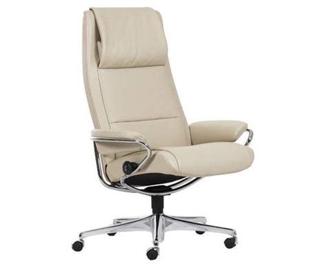 Reclining Back Chair Ekornes Stressless High Back Leather Recliner And