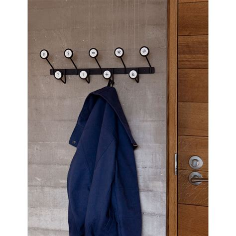 Multi Coat umbra scribe multi coat wall and coat hook in black