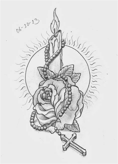 rose beads tattoo designs sketch a day october 2013