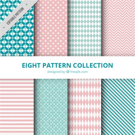 pattern collection download collection of patterns with abstract drawings vector