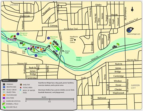 hines park plymouth mi maps of hines park recreation areas