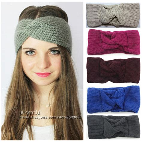 knitted head bangs styles aliexpress com buy knitted turban headband winter ear