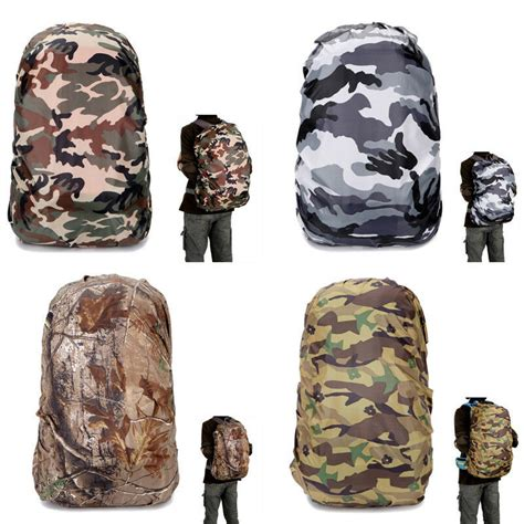 waterproof camo cover travel hiking backpack outdoor cing rucksack bag ebay