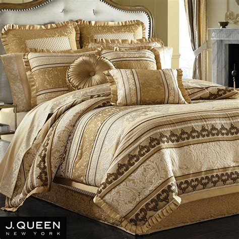 marcello gold comforter bedding by j queen new york