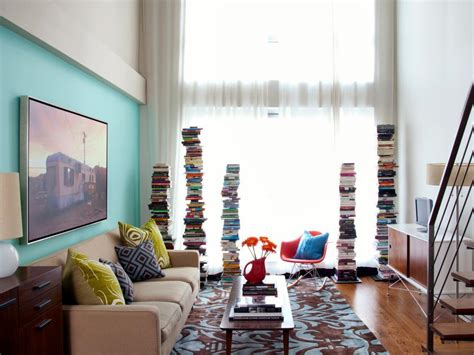 small spaces living room colorful clever small spaces from hgtv hgtv