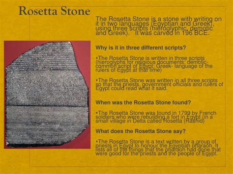 rosetta stone three languages ppt ancient egypt powerpoint presentation id 5461817