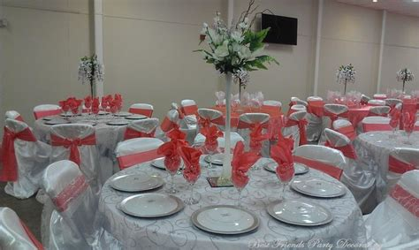 silver and coral wedding silver embroidery overlay white base tablecloth coral satin and