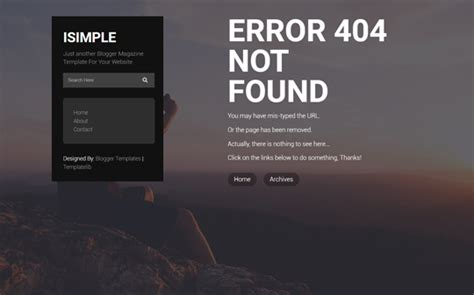500 layout blog not found isimple classic layout responsive blogger template