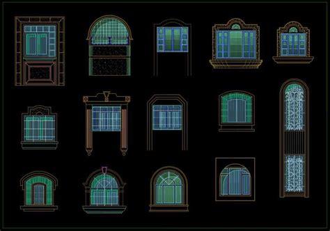 types  door windows design cad blocks high