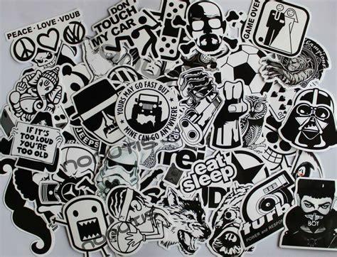 black  white sticker bombing pack sticker bomb vinyl