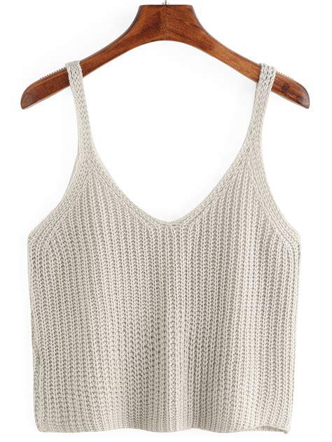knitted tank top knitted crop tank top shein sheinside