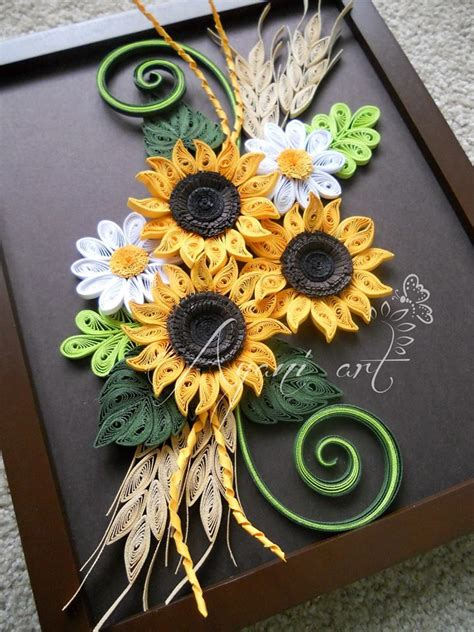 quilling sunflower tutorial pin by andreea apostol on quilling pinterest