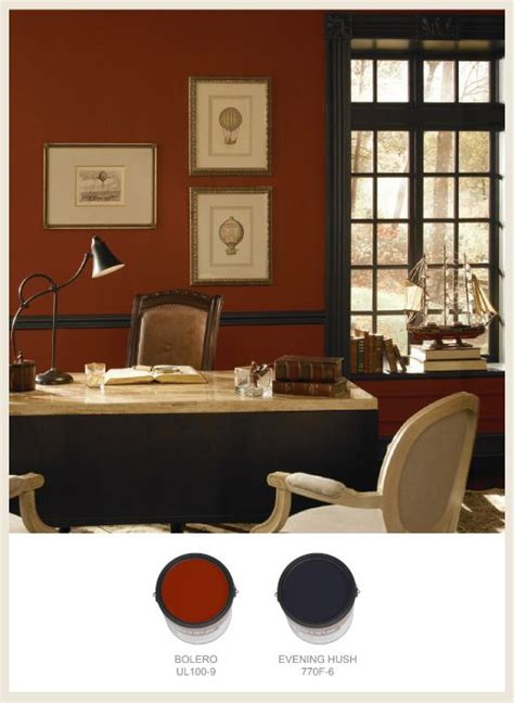 makes this traditional office look stately and