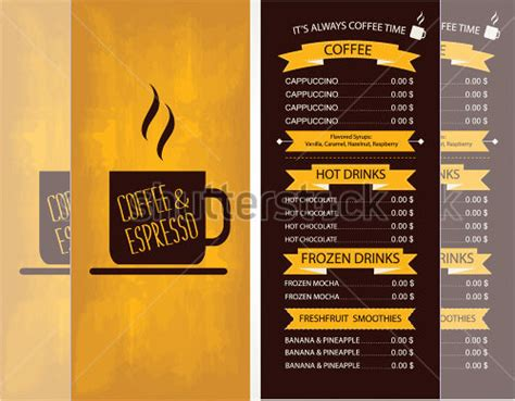 Cafe Templates by 43 Cafe Menu Templates Psd Eps Indesign Free