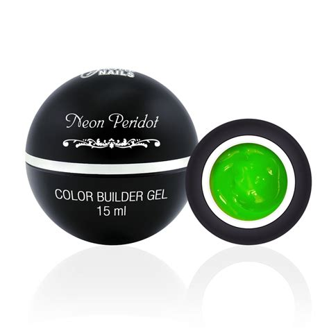 Qq Gel 15 Ml neon peridot color builder gel 15 ml nails uk