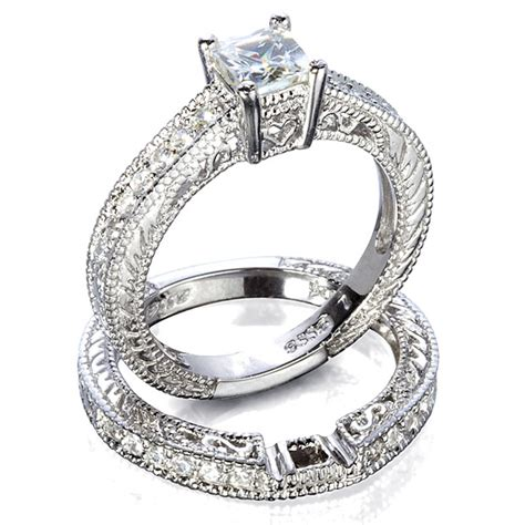 unique antique style wedding ring sets with china