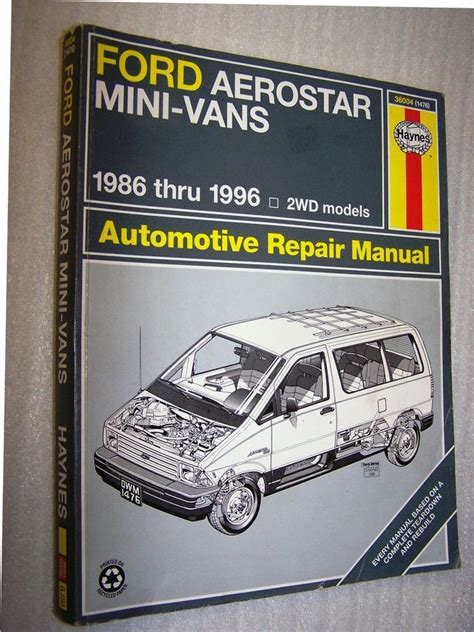shop manual aerostar service repair ford haynes chilton 13 best bronco ii images on ford bronco ii ford trucks and autos
