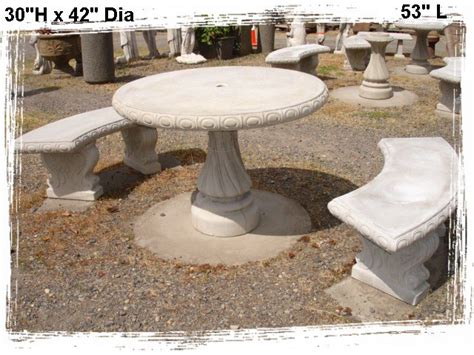 concrete table and benches concrete benches and tables little baja